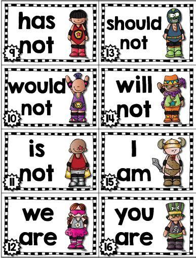 printable contraction poster contractions games scoot bingo posters more am