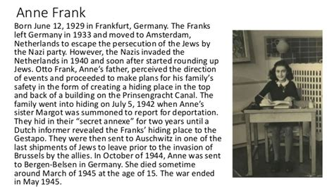 tes biography anne frank maus notes 2
