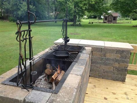 backyard pit bbq brick bbq grill all things bell pinterest