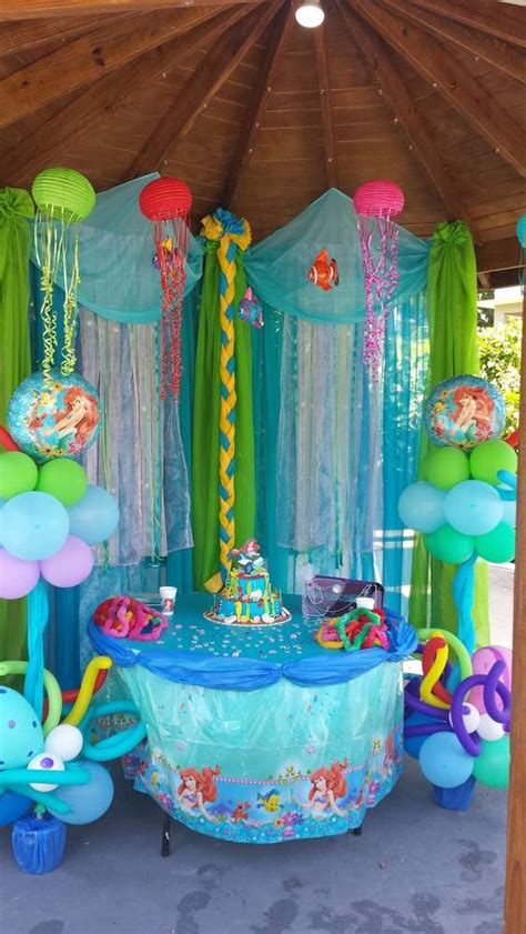 Ariel Decorations by Mermaid Birthday Ideas Photo 4 Of 13