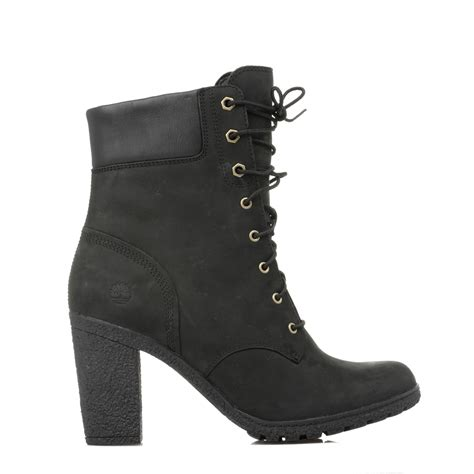 timberland womens lace up black heel glancy 6