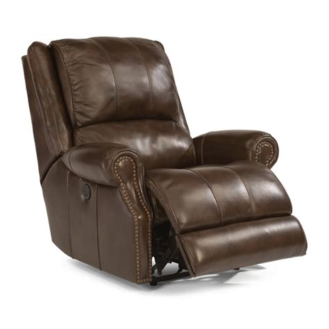 cheap power recliners flexsteel 1252 500p sedgewick leather power recliner