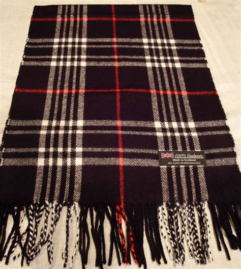 winter scarf pink black check plaid made in
