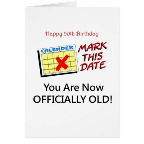 50 Year Birthday Cards Cute 50 Year Old Birthday Gifts Greeting Card Zazzle