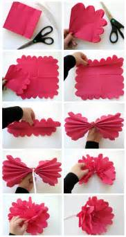 Paper Flower Steps - how to make a paper flower step by step galleryhip com