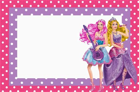 free printable barbie birthday decorations barbie rock star free printable invitations oh my