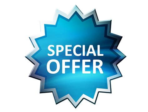 special offer special savings