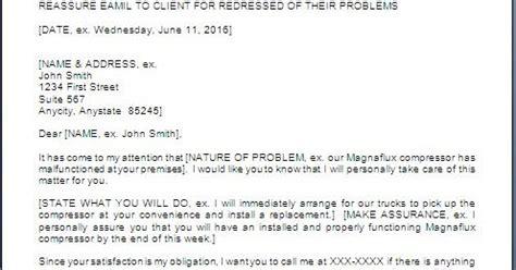 Customer Complaint Letter Sle Response Customer Complaint Response Letter Format