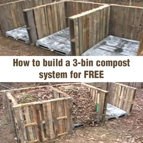 Free Trellis Plans how to build a 3 bin compost system for free