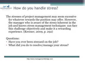 Stress Questions For Mba Students by Management Stress Burnout