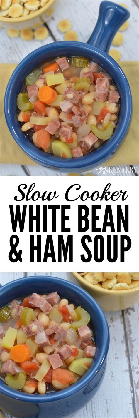 printable soup recipes slow cooker white bean and ham soup recipe printable