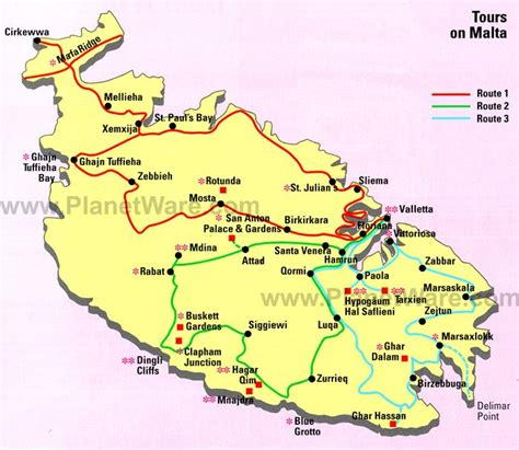 printable road map of malta image gallery tours map