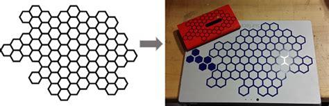 honeycomb pattern coreldraw vera schroeder week 1