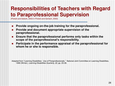ppt supervision competencies for teachers who direct the work of paraprofessionals powerpoint