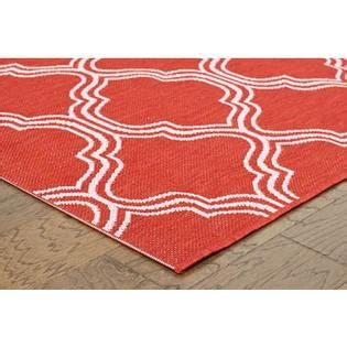 coral accent rug 2x3 coral red fretwork indoor outdoor accent rug