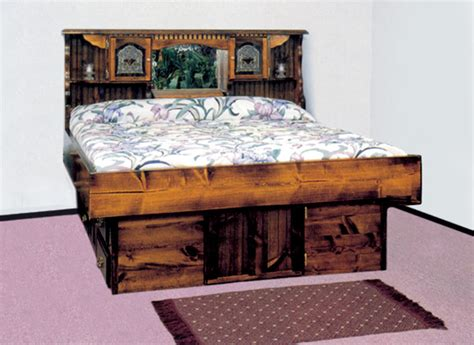 King Size Platform Storage Bed With Drawers - waterbed mountain floral complete hb fr deck ped k awesome waterbeds for an awesome sleep at