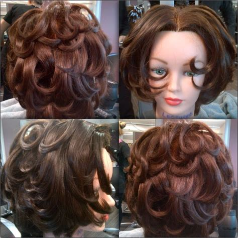 blow drying layered hair for fullness flicky blow dry short layered hair short hair
