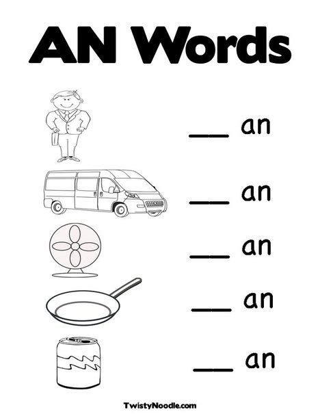 kindergarten activities word families worksheet 100th day coloring pages word family quot an