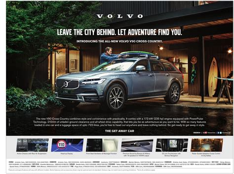 volvo advertisement volvo car leave the city let adventure find you ad