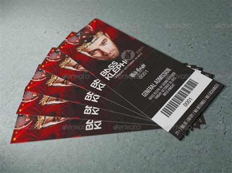 15 amazing ticket mockup psd design graphic cloud