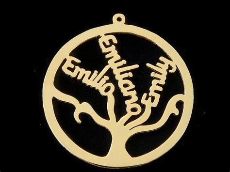 cadenas con nombre chapa de oro dije de arbol de la vida con nombres hasta 3 en chapa de