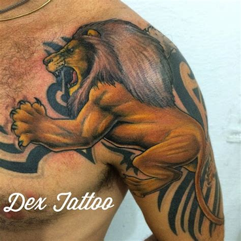 75 extreme lion shoulder tattoos