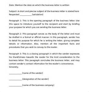 proper business letter format 8 free documents