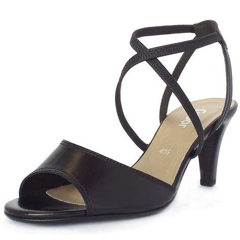 modern high heels gabor elan modern high heel strappy sandals in balck