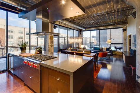 warehouse kitchen design dwelling designs warehouse district loft industrial