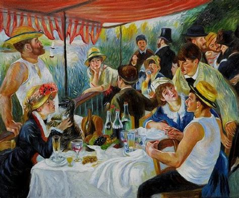 renoir boating party luncheon of the oating party