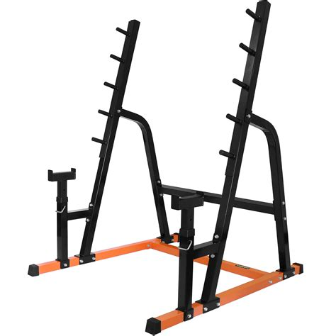bench press and squat mirafit weight lifting power rack gym bar stand with bench