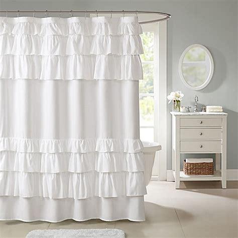 park shower curtains madison park grace 72 inch shower curtain bed bath beyond
