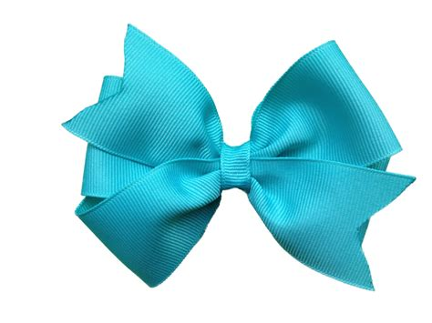 hair bows 4 inch turquoise hair bow turquoise bow by browneyedbowtique