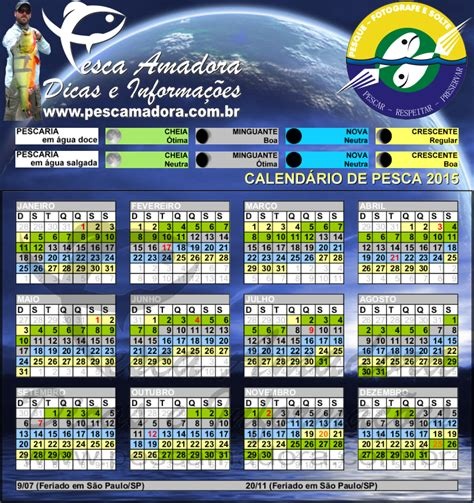 Calendario Da Lua 2015 Calend 225 De Pesca Pesca Amadora
