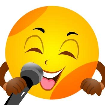 singing smiley face emoticon teach feelings and