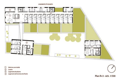c foster housing floor plans gallery of school group and student housing atelier