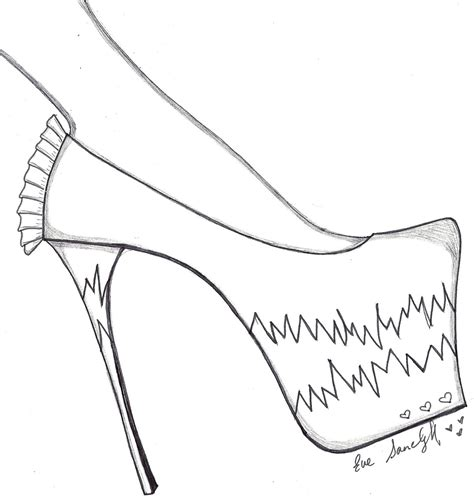 shoe drawing template paper doll a dreams pink stiletto shoe template