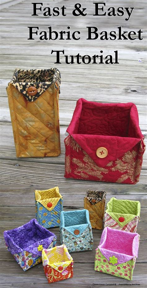 fabric crafts gifts fabric baskets tutorial sewing no sewing fabric