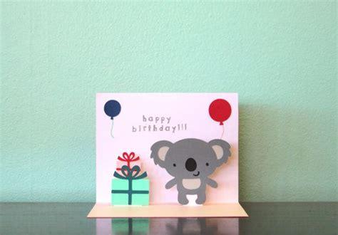 koala birthday card template pop up card koala happy birthday by choodaloo on etsy