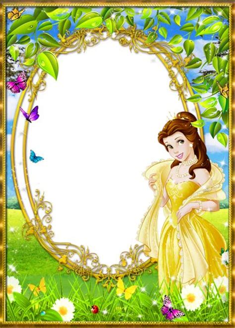 tinkerbell photo booth layout cute princess kids png transparent frame cute frames
