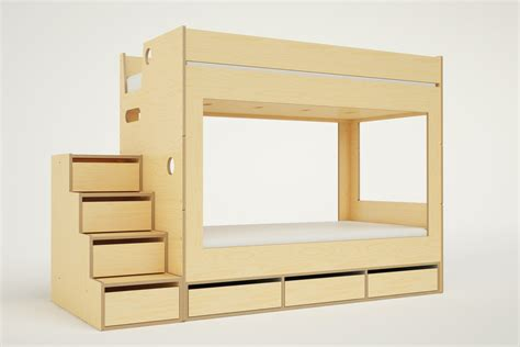 cabin bunk bed with stairs casa kids