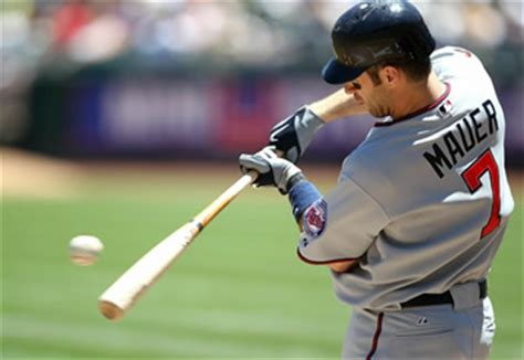 joe mauer swing the key to solid contact hitting baseballs be a better