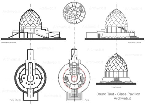 House Plan Pdf bruno taut glass pavilion werkbund exhibition