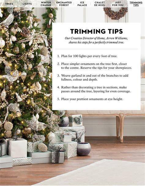 tree trimming tips hudson s bay christmas pinterest
