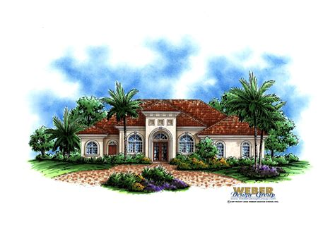 santa barbara style home plans santa barbara home plan weber design group naples fl