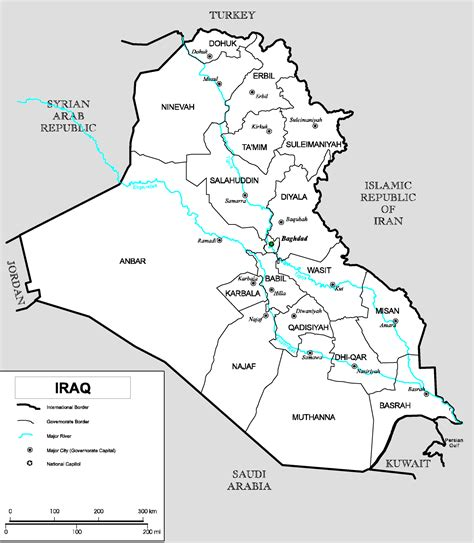 map of baghdad iraq irak karte provinzen