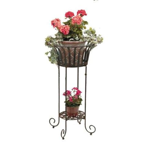 deer park solera 21 in metal plant stand pl202x the