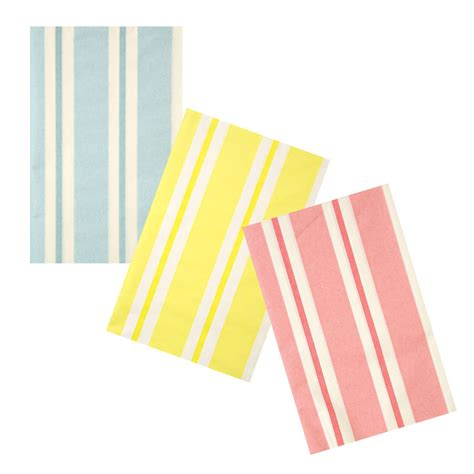 pastel striped paper tablecloth by postbox