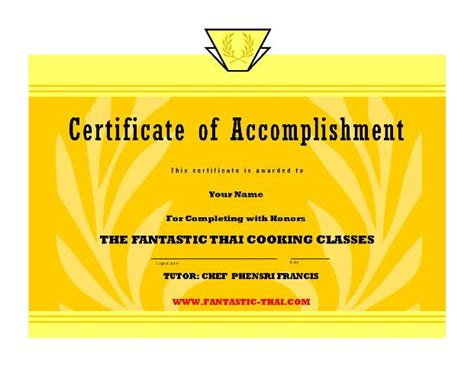 cooking certificate template free printable 1st first