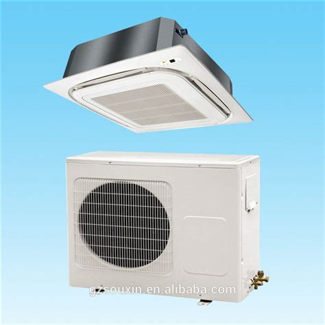 Cassette Type Ceiling Mounted Fan Coil Unit Central Air Ceiling Mounted Air Conditioner